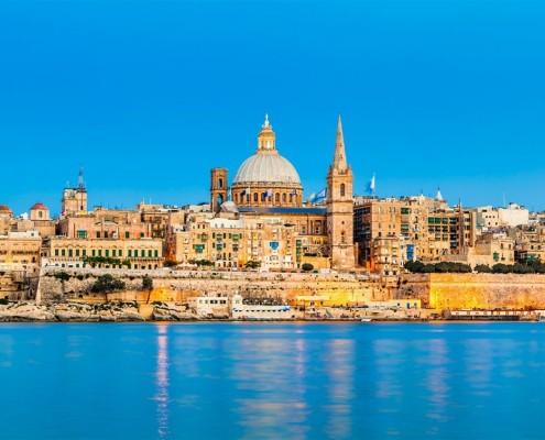 Malta__Valletta_Skyline